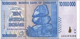 Zimbabwe P.78 10.000.000 Dollars 2008 (1)