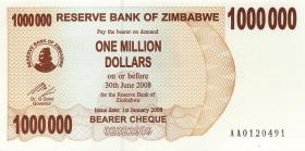 Zimbabwe P.53 1.000.000 Dollar 2008 (1)