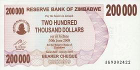 Zimbabwe P.49 200.000 Dollar 2007 (1)