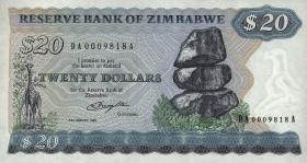Zimbabwe P.04a 20 Dollars 1980 (1)