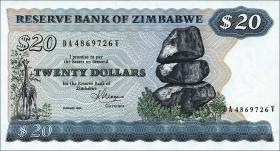 Zimbabwe P.04c 20 Dollars 1983 (1)