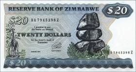 Zimbabwe P.04d 20 Dollars 1994 (1)
