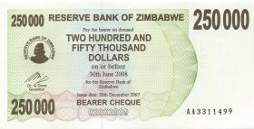 Zimbabwe P.50 250.000 Dollar 2007 (1)