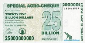 Zimbabwe P.62 25 Billion Dollars 2008 (1)