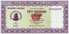 Zimbabwe P.30 50000 Dollars 2006 (1)