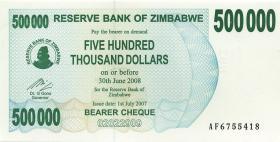 Zimbabwe P.51 500.000 Dollar 2007 (1)