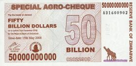 Zimbabwe P.63 50 Billion Dollars 2008 (1)