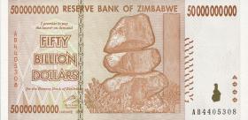 Zimbabwe P.87 50 Billion Dollars 2008 (1)