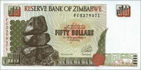 Zimbabwe P.08 50 Dollars 1995 (1)