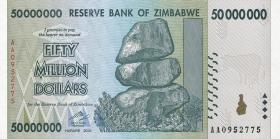 Zimbabwe P.79 50.000.000 Dollars 2008 (1)
