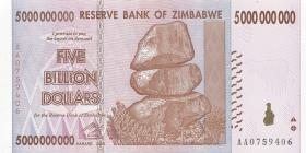 Zimbabwe P.84 5 Billion Dollars 2008 (1)
