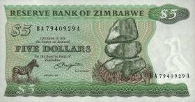 Zimbabwe P.02b 5 Dollars 1982 (1)