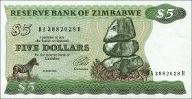 Zimbabwe P.02e 5 Dollars 1994 (1)