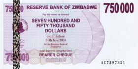 Zimbabwe P.52 750.000 Dollar 2007 (1)