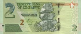 Zimbabwe P.099 2 Dollars 2016 Bond Note (1)