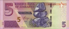 Zimbabwe P.100 5 Dollars 2016 Bond Note (1)