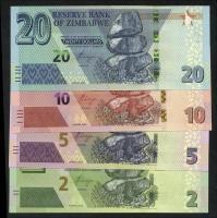 Zimbabwe P.101/104 2-20 Dollars 2019-2020 (1)
