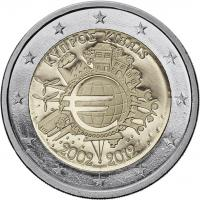 Zypern 2 Euro 2012 Euro-Bargeld Kapsel