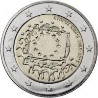 Zypern 2 Euro 2015 30 Jahre EU-Flagge