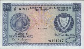 Zypern / Cyprus P.41b 250 Mils 1973 (1)