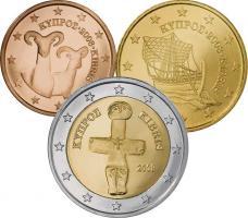 Zypern Eurokursmünzensatz 2008 (lose)