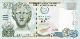 Zypern / Cyprus P.62c 10 Pounds 2001 (1)