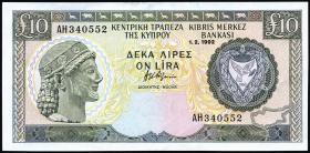 Zypern / Cyprus P.55b 10 Pounds 1992 (2)