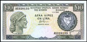 Zypern / Cyprus P.55d 10 Pounds 1995 (1)