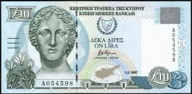 Zypern / Cyprus P.59 10 Pounds 1997 (2)