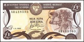 Zypern / Cyprus P.53c 1 Pound 1993 (1)
