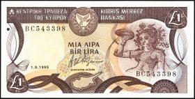 Zypern / Cyprus P.53d 1 Pound 1995 (1)