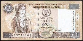 Zypern / Cyprus P.60c 1 Pound 2001 (1)