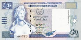 Zypern / Cyprus P.63a 20 Pounds 1997 (1)