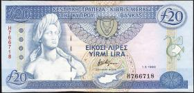 Zypern / Cyprus P.56b 20 Pounds 1993 (2)
