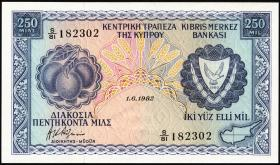 Zypern / Cyprus P.41c 250 Mils 1982 (1)