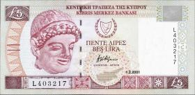 Zypern / Cyprus P.61a 5 Pounds 2001 (1)
