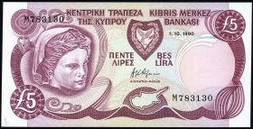 Zypern / Cyprus P.54a 5 Pounds 1990 (1)