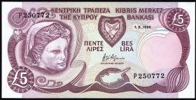 Zypern / Cyprus P.54b 5 Pounds 1995 (1)