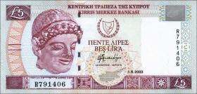 Zypern / Cyprus P.61b 5 Pounds 2003 (1)