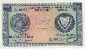 Zypern / Cyprus P.41b 250 Mils 1972 (2)