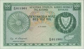 Zypern / Cyprus P.42a 500 Mils 1968 (1)