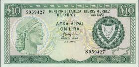 Zypern / Cyprus P.48b 10 Pounds 1985 (1-)