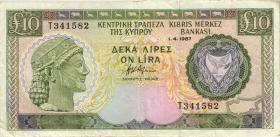 Zypern / Cyprus P.51 10 Pounds 1987 (3)