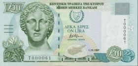 Zypern / Cyprus P.59 10 Pounds 1997 (1) low number