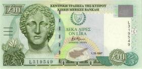 Zypern / Cyprus P.62a 10 Pounds 1997 (1)