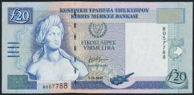 Zypern / Cyprus P.63a 20 Pounds 1997 (1-)