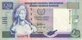 Zypern / Cyprus P.63a 20 Pounds 1997 (2)