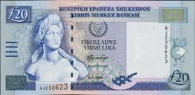 Zypern / Cyprus P.63c 20 Pounds 2004 (1)