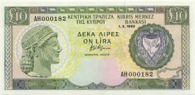 Zypern / Cyprus P.55b 10 Pounds 1992 AH 000182 (1)