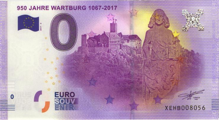 0 Euro Souvenir Schein 950 Jahre Wartburg (1)